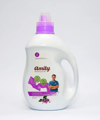 Nước giặt, xả Amity 2 trong 1 nhãn tím 3.8kg