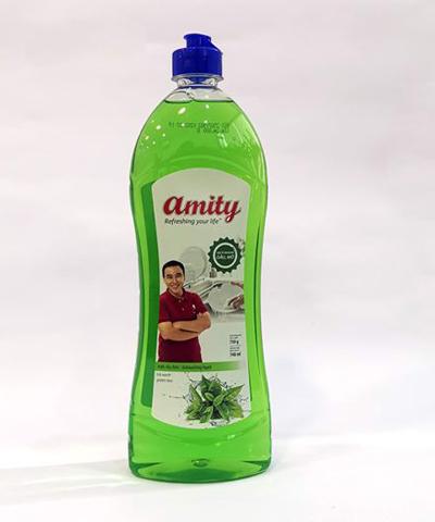 Nước rửa chén Amity hương trà xanh khử sạch mùi tanh 750g