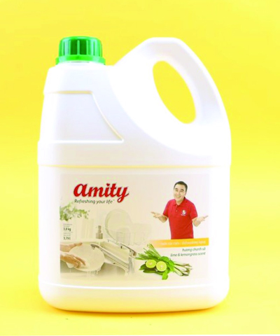 Nước rửa chén Amity hương chanh sả 1.5kg