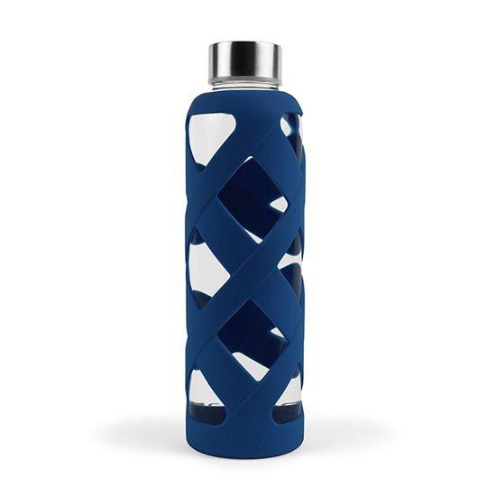 Bình thuỷ tinh có lớp bảo vệ (màu xanh dương đậm) - Aquasana USA - Made in USA