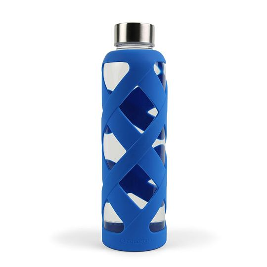 Bình thuỷ tinh có lớp bảo vệ (màu xanh dương) - Aquasana USA - Made in USA