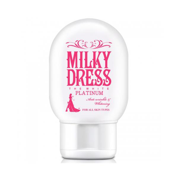 Sữa dưỡng trắng và chống lão hóa Milky Dress The White Platinum (65ml) Milky Dress