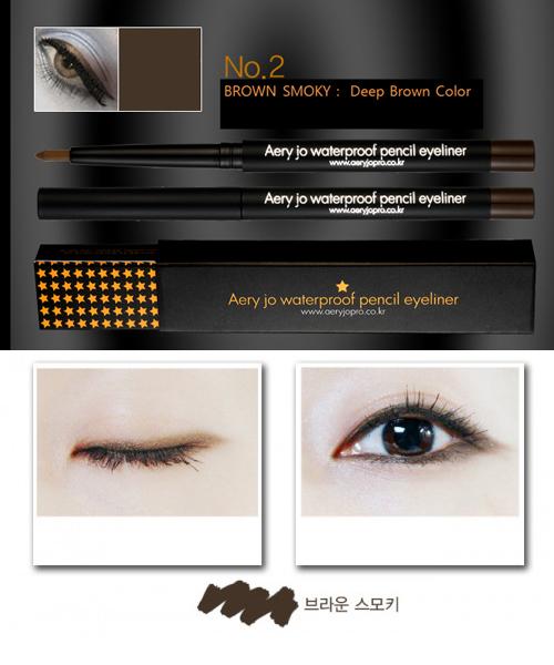 CHÌ KẺ VIỀN MẮT AERY JO WATERPROOF PENCIL EYELINER #No 02 (Brown smoky)